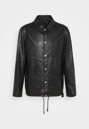 POCKET JACKET - Leren jas - black