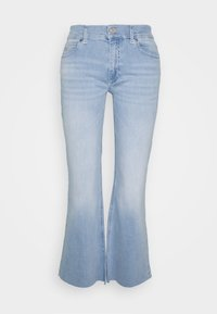 Calvin Klein - HIGH RISE SKINNY  - Široké džíny - light-blue denim - 4
