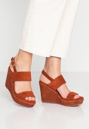 SHARA - High heeled sandals - tan