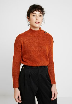 MID GAUGE BUTTON SHOULDER - Jumper - rust