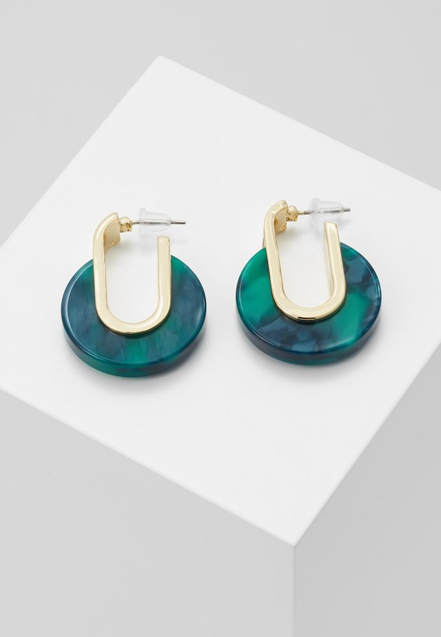 SMALL OVAL EAR - Earrings - gold-coloured/green