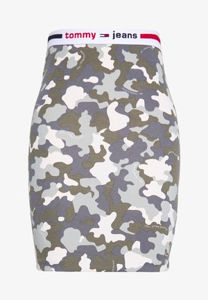 CAMO BODYCON SKIRT - Minifalda - olive tree