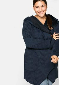 Sheego - Zip-up hoodie - nachtblau - 3