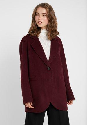 MARC - Classic coat - aubergine
