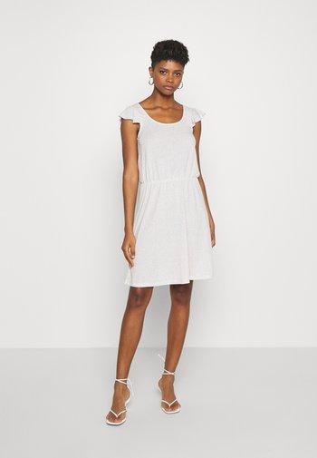 VIBARIA - Jersey dress - mottled beige