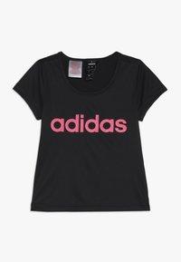 adidas Performance - T-Shirt print - black/real pink - 0