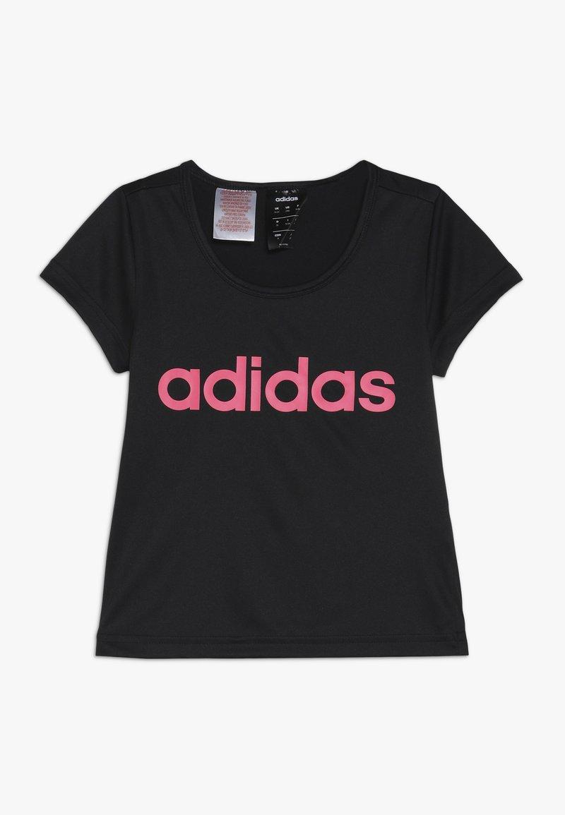 adidas Performance - T-Shirt print - black/real pink