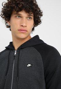 Nike Sportswear - OPTIC HOODIE - Zip-up hoodie - black - 5