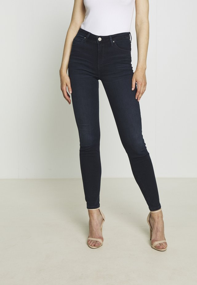 SCARLETT HIGH - Jeansy Skinny Fit - worn ebony