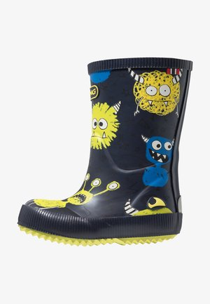 CLASSIC INDIE MONSTERS - Wellies - navy/lime