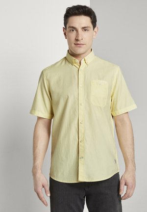 RAY TWO TONE - Shirt - yellow white two face twill
