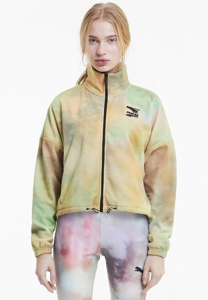 Puma - EVIDE PRINTED - Fleece jacket - puma white