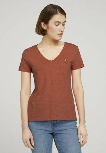 Print T-shirt - sundown coral