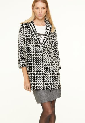 Classic coat - black big houndstooth