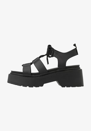 PHOEBE GHILLIE - Sandalen met plateauzool - black