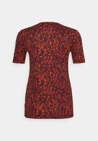 Scotch & Soda - PRINTED SHORT SLEEVE TEE - Print T-shirt - red - 1