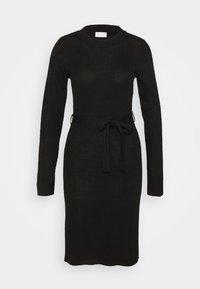 Vila - VIWULVA TIE BELT DRESS - Abito in maglia - black - 4