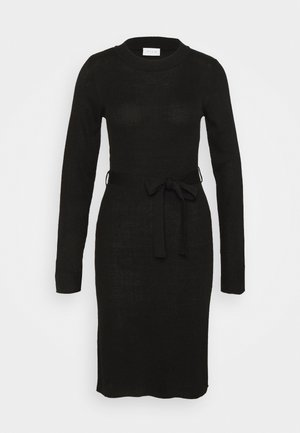 VIWULVA TIE BELT DRESS - Jumper dress - black
