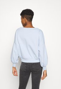 Even&Odd - Balloon sleeve V neck - Sweatshirt - blue - 2