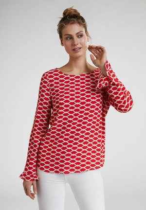 MIT LIPPENDRUCK - Blouse - red/white