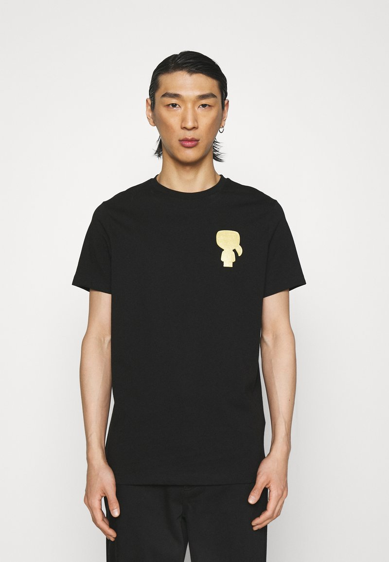 KARL LAGERFELD - CREWNECK - Print T-shirt - black/gold