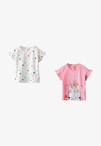 2 PACK - Print T-shirt - ecru