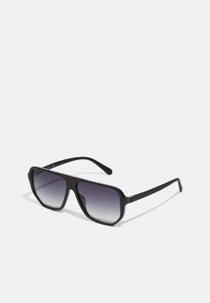 UNISEX - Occhiali da sole - shiny black/green mirror