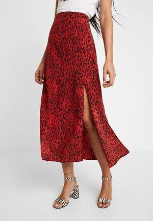 SPOT AUSTIN MIDI - A-line skirt - red