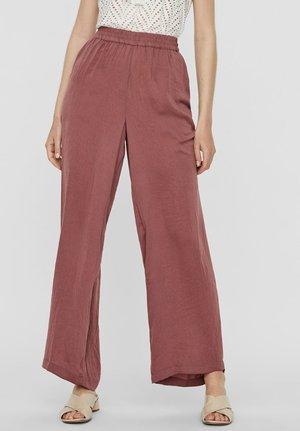 Spodnie materiałowe - rose brown