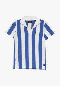 Scotch & Soda - SHORT SLEEVE DYED STRIPES + ARTWORKS - Polo shirt - blue/white - 3