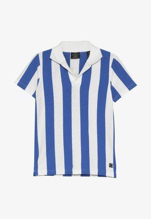 SHORT SLEEVE DYED STRIPES + ARTWORKS - Polo shirt - blue/white