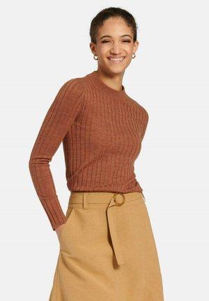 Pullover - kastanie-melange