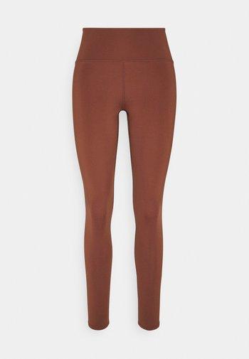 SPORT LEGGINGS - Leggings - brown medium dusty