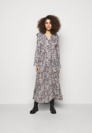 DRESS - Vestido largo - black/ecru