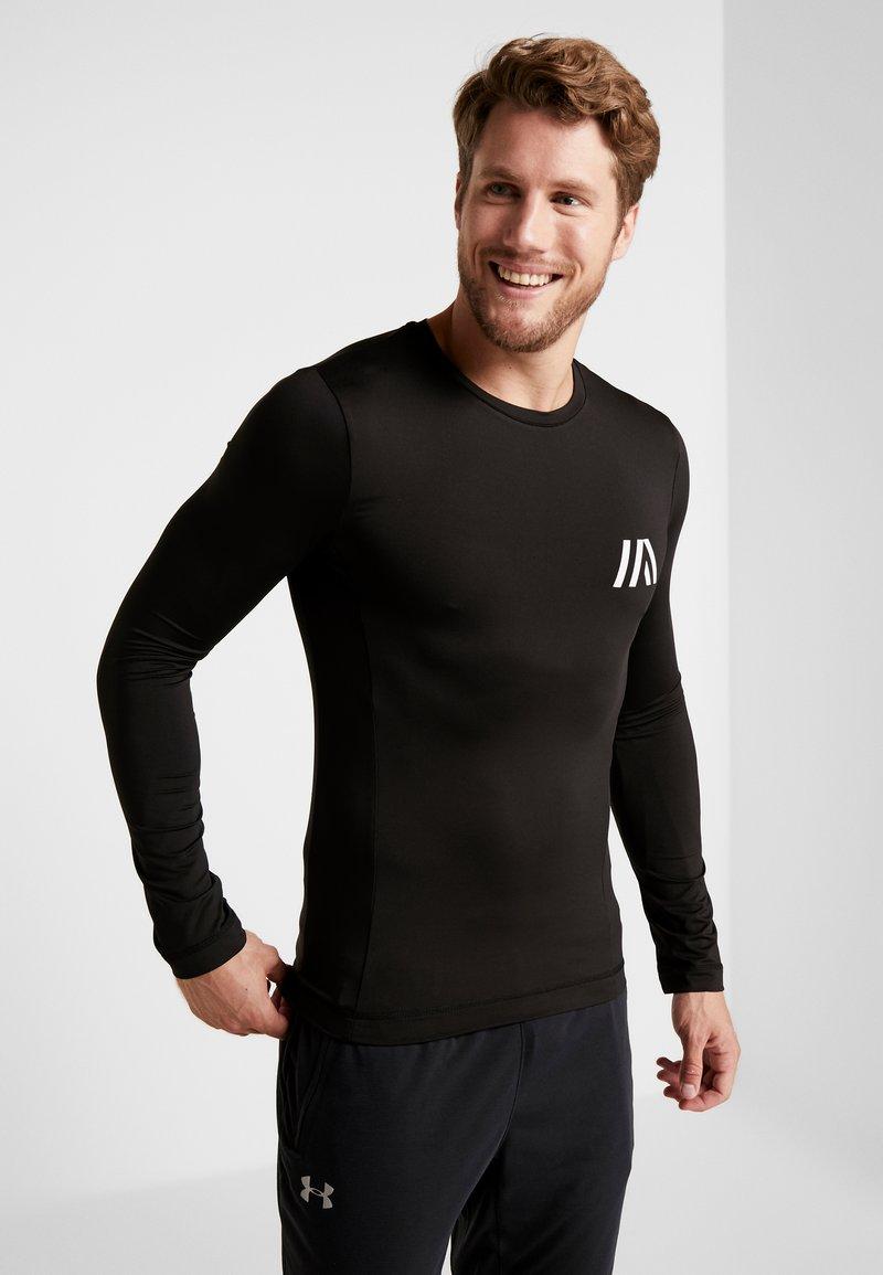 Your Turn Active - Maglietta a manica lunga - black