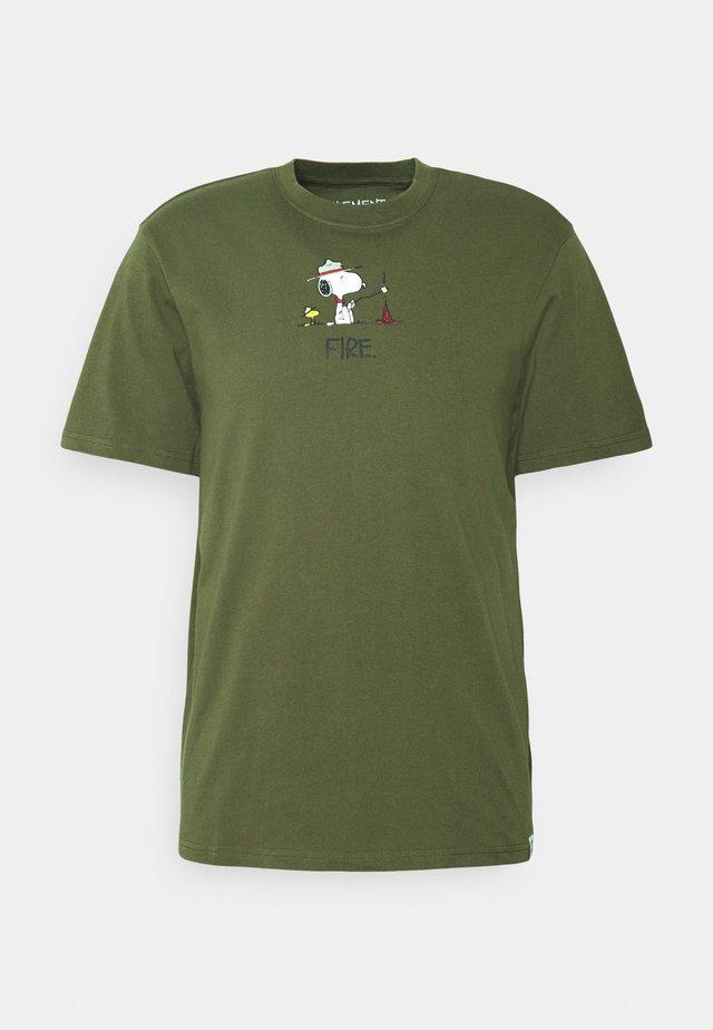 PEANUTS - Print T-shirt - army