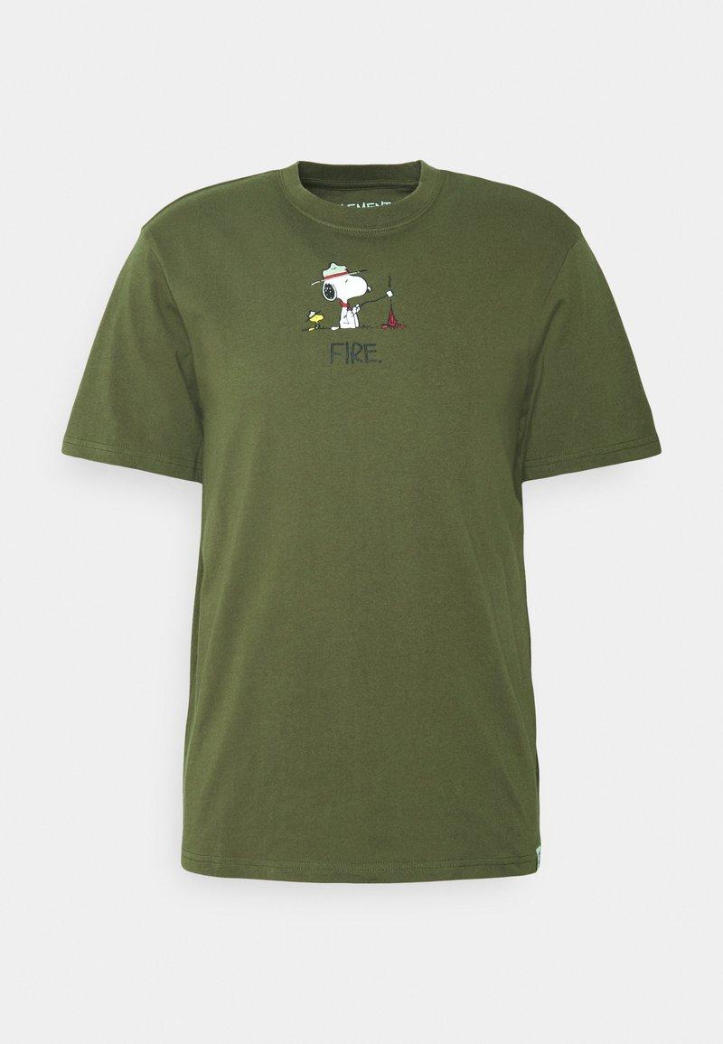 Element - PEANUTS - Print T-shirt - army