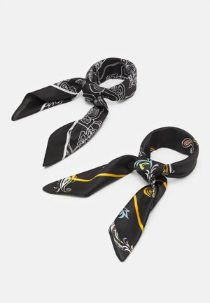 BANDANAS UNISEX 2 PACK - Foulard - black/multi-coloured