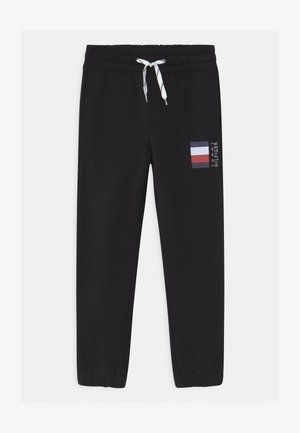 GLOBAL STRIPE  - Tracksuit bottoms - black