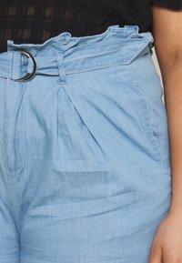 Missguided Plus - PAPERBAG WAIST - Shorts - blue - 4