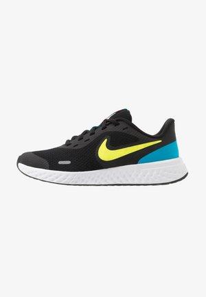 REVOLUTION 5 UNISEX - Neutral running shoes - black/lemon/laser blue/hyper crimson/white