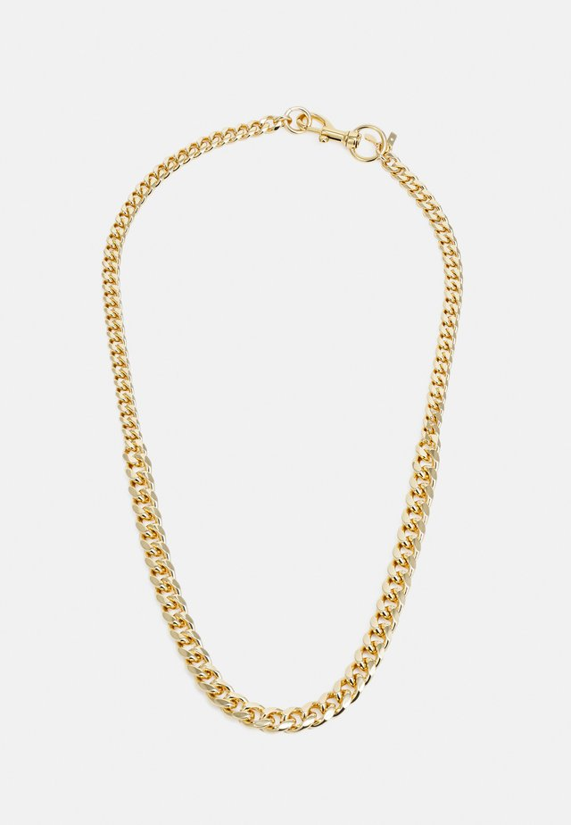 CONVERTIBLE CURB CHAIN NECKLACE - Collier - gold-coloured