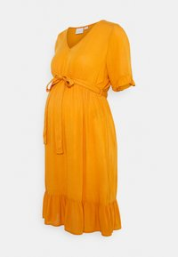 MAMALICIOUS - MLLANA 2/4 WOVEN SHORT DRESS  - Sukienka letnia - desert sun - 0