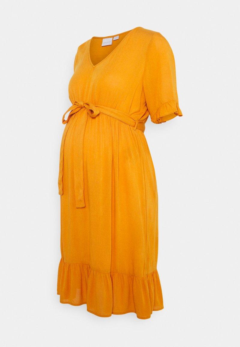 MAMALICIOUS - MLLANA 2/4 WOVEN SHORT DRESS  - Sukienka letnia - desert sun