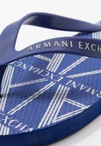 Armani Exchange - Boty do bazénu - sodalite/silver - 5