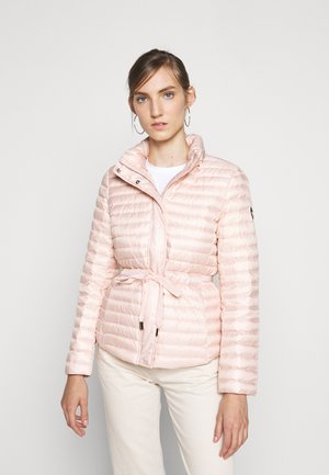 BELTED - Down jacket - powder blush