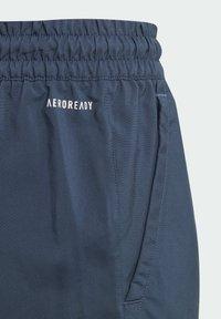 adidas Performance - CLUB 3 STRIPES PRIMEGREEN SHORTS - Sports shorts - blue - 2