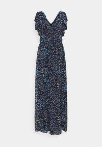 PRINTED CRINKLE LONG - Maxi dress - navy/blue