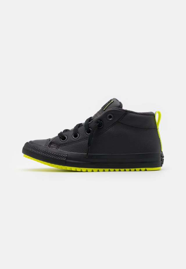 CHUCK TAYLOR ALL STAR STREET BOOT REFLECTIVE UNISEX - High-top trainers - almost black/lemon/black