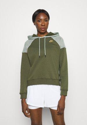 HOODIE - Sweatshirt - rough green/mint foam/gold
